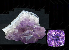 Amethyst birthstone of Aqua