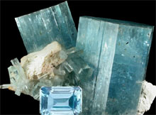 Aquamarine birthstone for P